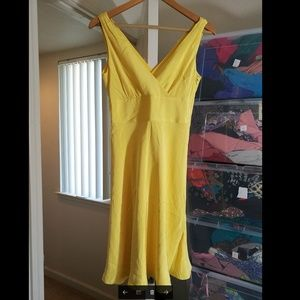 100% SILK J Crew yellow dress NWOT